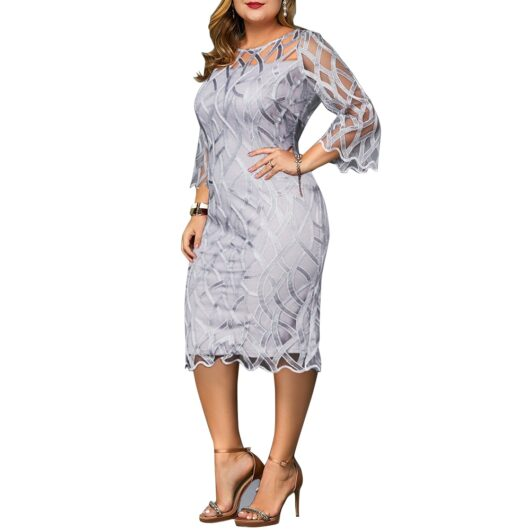 Elegant Transparent Sleeve Dress