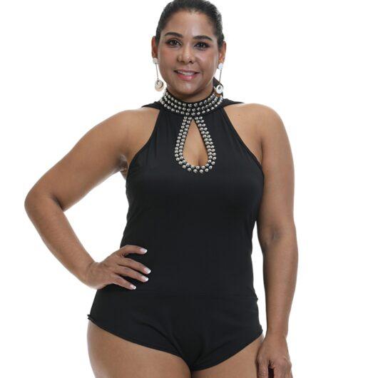 black bodysuit plus size