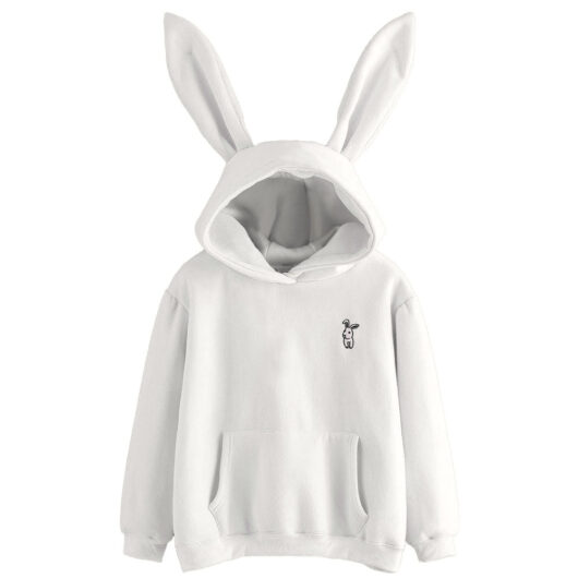 Oversized Hoodie with Bunny Ears