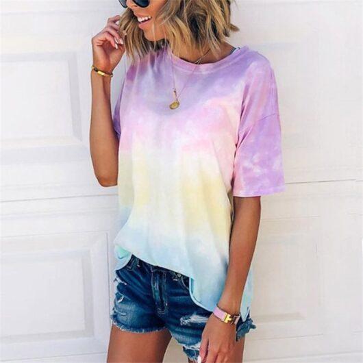 Tie Dye O neck T-Shirt
