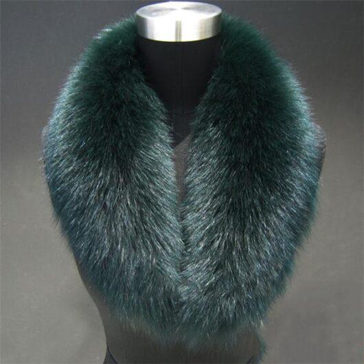 100% Real fox fur collar scarf