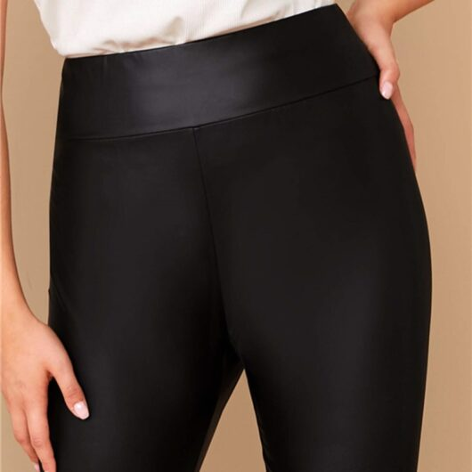 Women's Plus Size Elastic Waist Classic Leggings