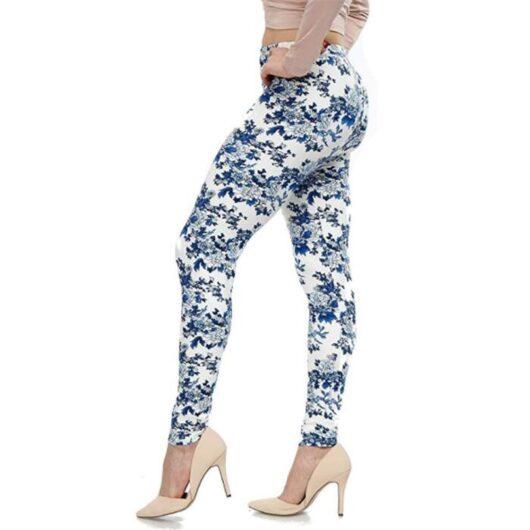 Women's Plus Size Floral Print Leggings