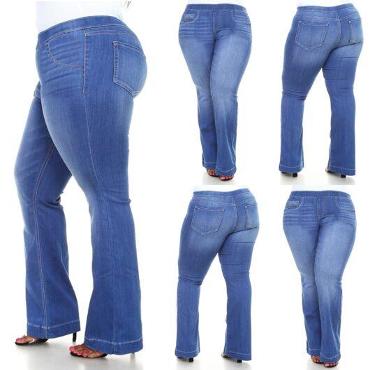 Plus Size Jeans Bell Bottoms W/elastic waist